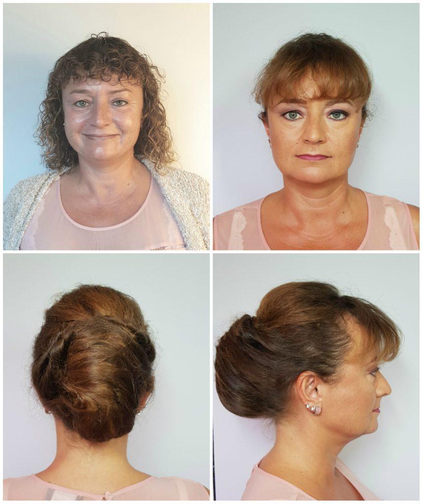 Feest make-up voor-en na