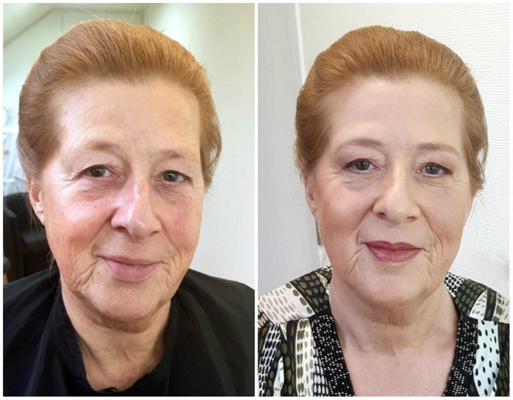 Opsteek korte bob en make-up